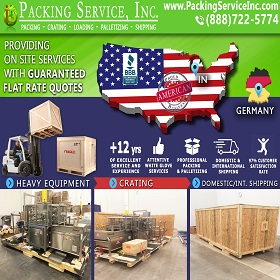 Crating and Shipping from Indiana to Germany 775s