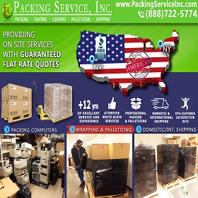 Pack computers palletize and ship from NY to Vegas