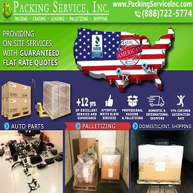 Packing Car Parts, Palletize and Ship from TX to AL