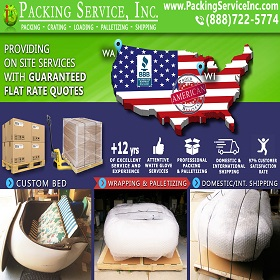 Wrapping Custom Bed, Palletizing and Shipping