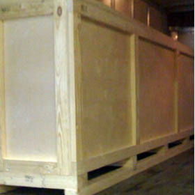 Custom build wooden crates and palletizing
